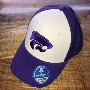Kansas State Wildcats purple baseball hat